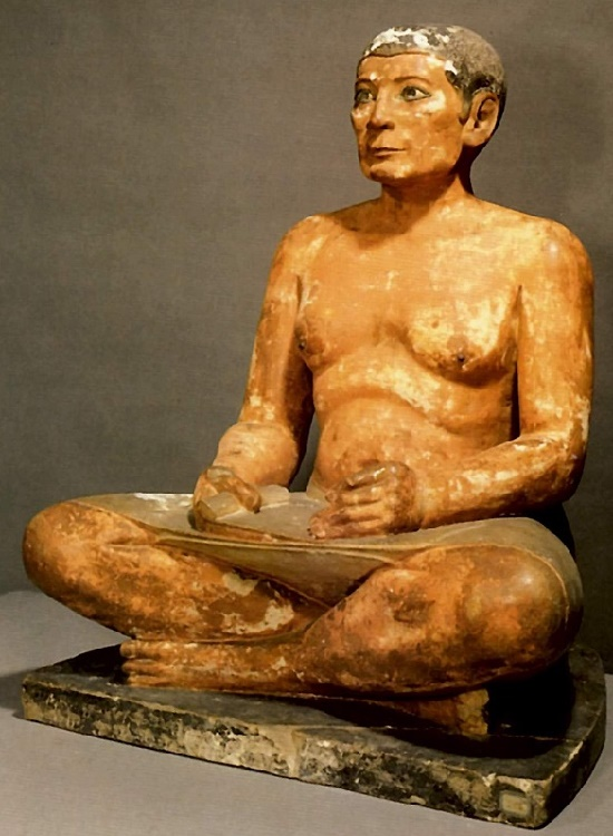 Repository of the soul - Egyptian Ancient Realistic Sculpture. Sitting scribe Kai