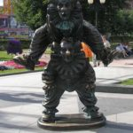 Legendary Russian clown Yuri Nikulin monuments