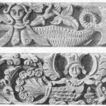 Mythological bird Sirin monuments