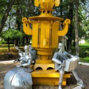 Suksun (Perm region), Monument to the samovar, here in 1741 produced the first samovar
