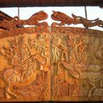Mythological bird Sirin monuments