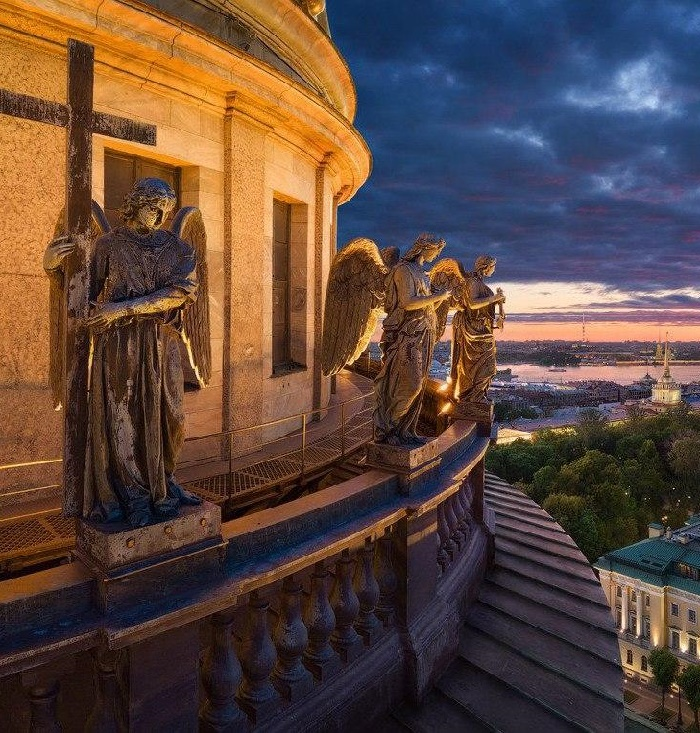 Weeping Angels of Saint Isaac's Cathedral