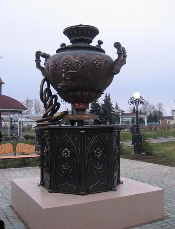 Yelabuga, Tatarstan, Russia. Monument to Samovar