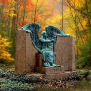 Autumn view, Haserot Black Angel monument