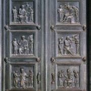 Bronze doors of sacristy. 1446-75 years. Bronze. Duomo, Florence