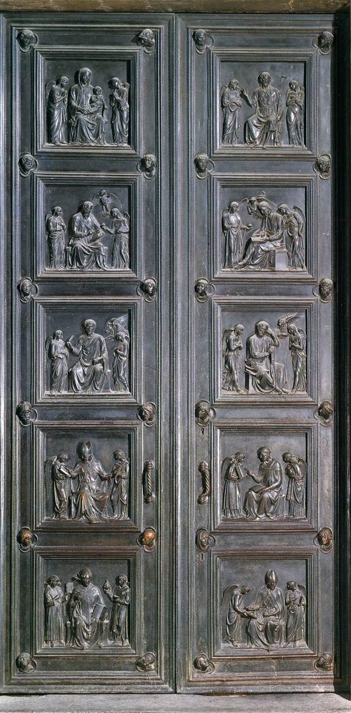Bronze doors of sacristy. 1446-75 years. Bronze. Duomo, Florence