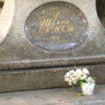 Ballerina Alla Shelest monument in Volkovo cemetery