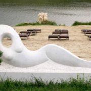 Mermaid sculpture
