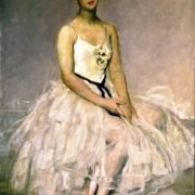 Portrait of ballerina Alla Yakovlevna Shelest. 1949. Viktor Mikhailovich Oreshnikov. State Russian Museum, St. Petersburg