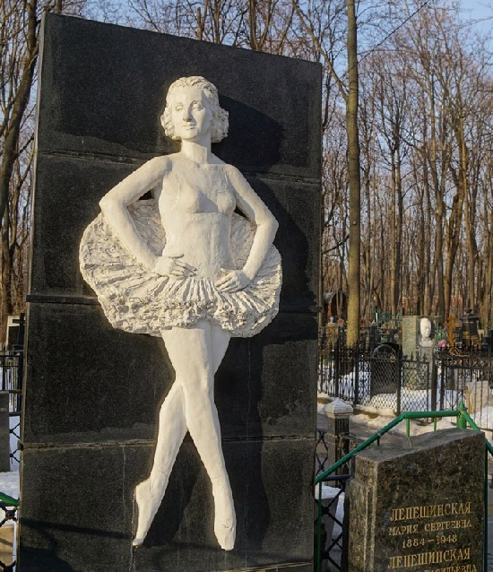 Cemetery monument to Lepeshinskaya