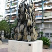 Nice, France, monument to cello