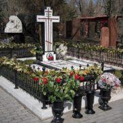 Novodevichie cemetery, grave of M.L. Rostropovich and G.P. Vishnevskaya