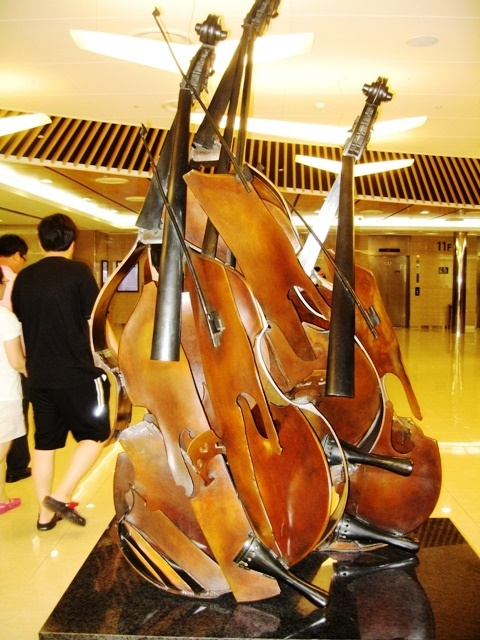 Treble instrument monument in Korea