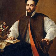 Cardinal Maffeo Barberini, the future Pope Urban VIII, was the patron of Bernini. Portrait of Maffeo Barberini, the work of Caravaggio, 1593