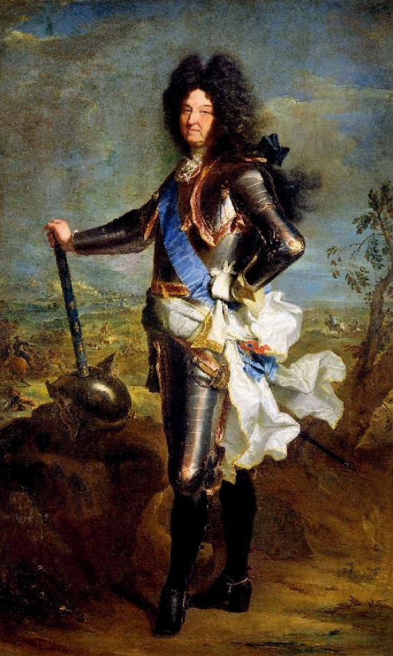 When King Louis XIV invited Bernini to rebuild the Louvre, Rome became worried - probably the French wanted to get their master from them forever. Hyacinthe Rigaud. Portrait of Louis XIV