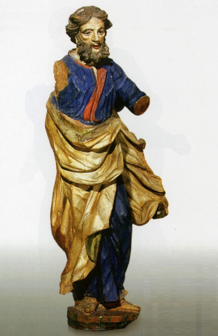 Apostle Thadaeus. Mid 18th с. Wood, carving, multi-coloured. The Holy Virgin Nativity Catholic Church, Traby, Iuye district, Grodna region