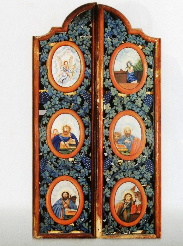 Early 19th с. Holy Gates. Wood, carving, multi-coloured. St. Paraskieva's Church, Opal, Ivanava district, Brest region