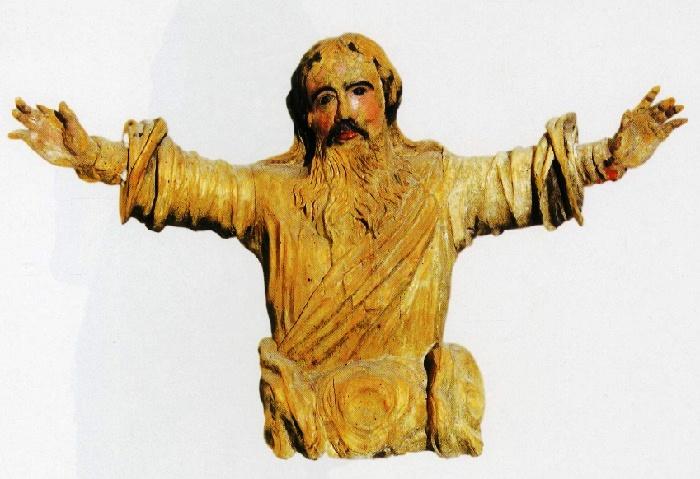 God-Father. 18th с. Wood, carving, multi-colored. St. Paraskieva's Church, Zbirogi, Brest district, Brest region