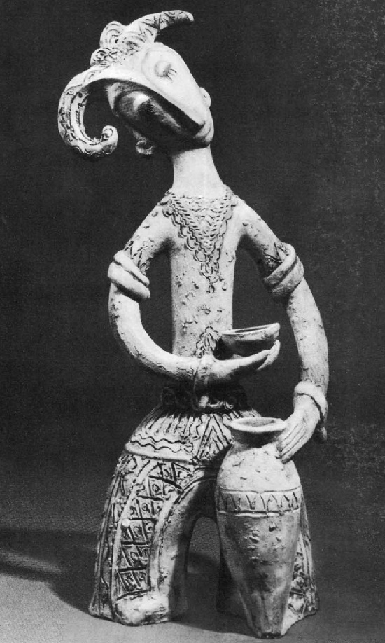 Kinto Street Singer. 1968. Slipwear. Work by Armenian sculptor Ruben Isaakovich Shaverdyan 1900-1977