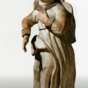 Mid 18th c. St. Anne. Wood, carving, multi-coloured. St. Nicolas' Church, Viarkhovichy, Kamianiets district, Brest region