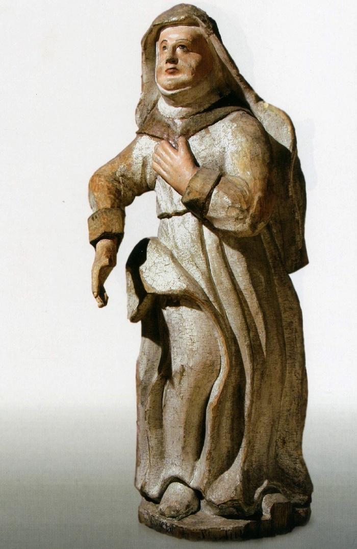Mid 18th c. St. Anne. Wood, carving, multi-coloured. St. Nicolas' Church, Viarkhovichy, Kamianiets district, Brest region