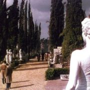 1954 film 'The Barefoot Contessa'. Garden of sculptures