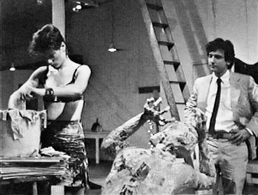 Kiki, Paul, and her papier-mâche sculpture, which serves as both augury and index of his dawning terror in After Hours (Martin Scorsese, 1985)