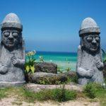 Dol hareubangs – Cheju Do island stone grandfathers