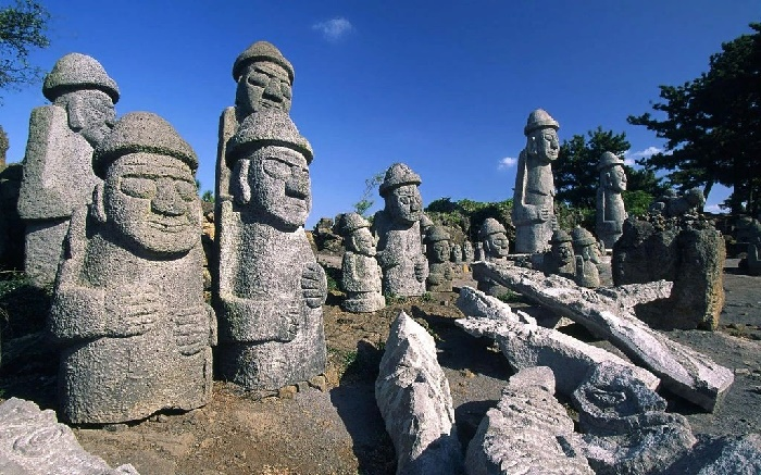 Traditionally, in ancient times, the local people placed such statues at the entrance to towns and villages, as amulets