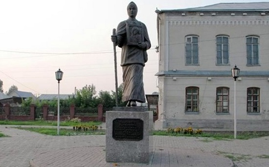 Erected in 2004 Snowmaiden Praskovya Lupolova monument