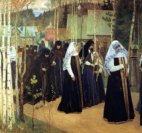 Great tonsure. 1898. Mikhail Nesterov