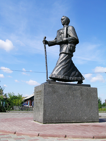 Monument in the provincial town of Ishim, Tyumen region