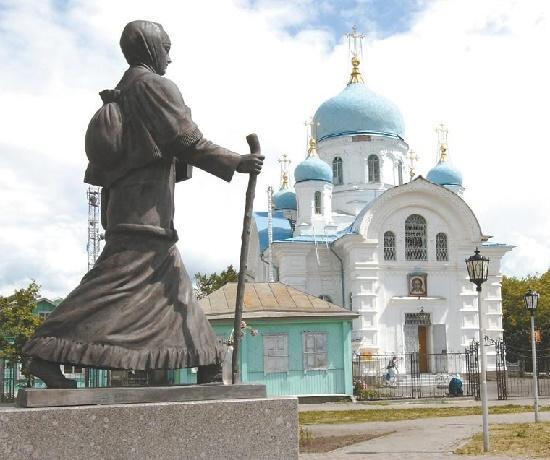 Tyumen region, Russia. Snowmaiden Praskovya Lupolova monument. Work by sculptor Vyacheslaev Mikhailovich Klykov (October 19, 1939, Marmyzhi, Kursk Region - June 2, 2006, Moscow)