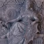 Russian Imperial banknote monument by Gennady Manekin