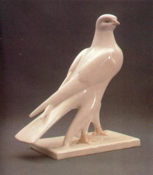 Falcon. 1957. Porcelain, underglaze painting. State Tretyakov Gallery