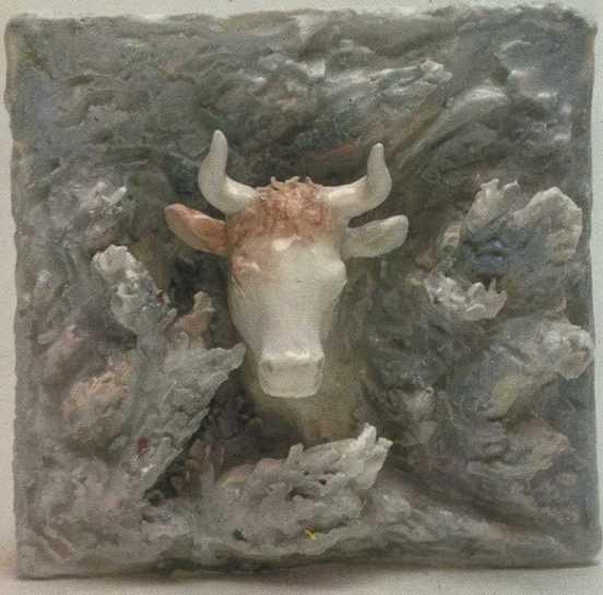 Cow. Deail of wall composition. 1939
