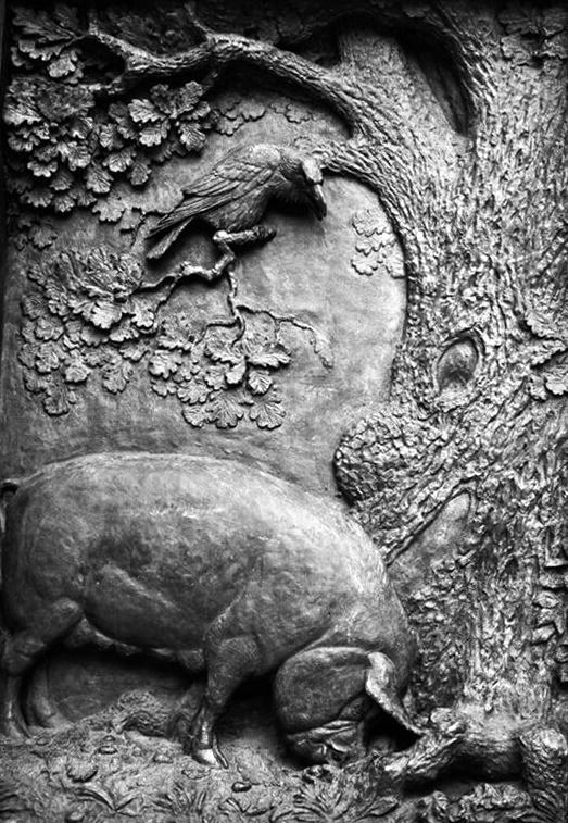 Russian sculptor-animalist Dmitry Gorlov (2 November 1899 - 8 August 1988)