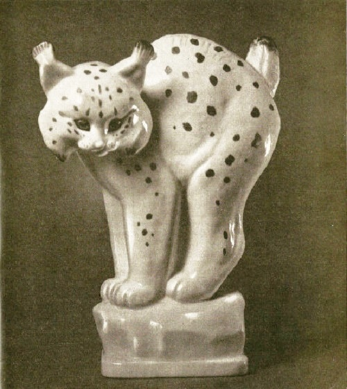 Lynx. 1953. Porcelain, overglaze painting