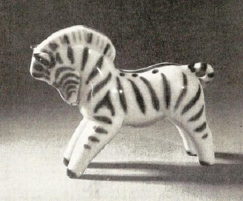 Zebra. 1958. Porcelain