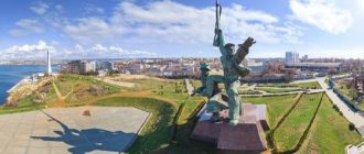 Monument to a sailor and a soldier in Sevastopol